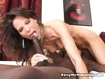 Big black cock lover Molly is a skinny mature whore sucking & fucking
